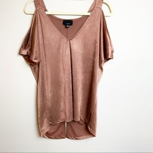 Anthro LUMIERE Cold Shoulder Top